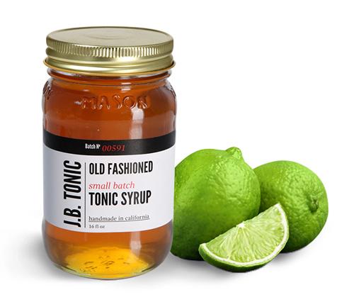 Glass Mason Jars, Tonic Syrup Jars