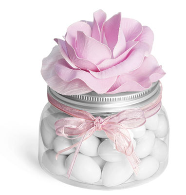 Clear PET Tuscany Jars Wedding Favor Ideas